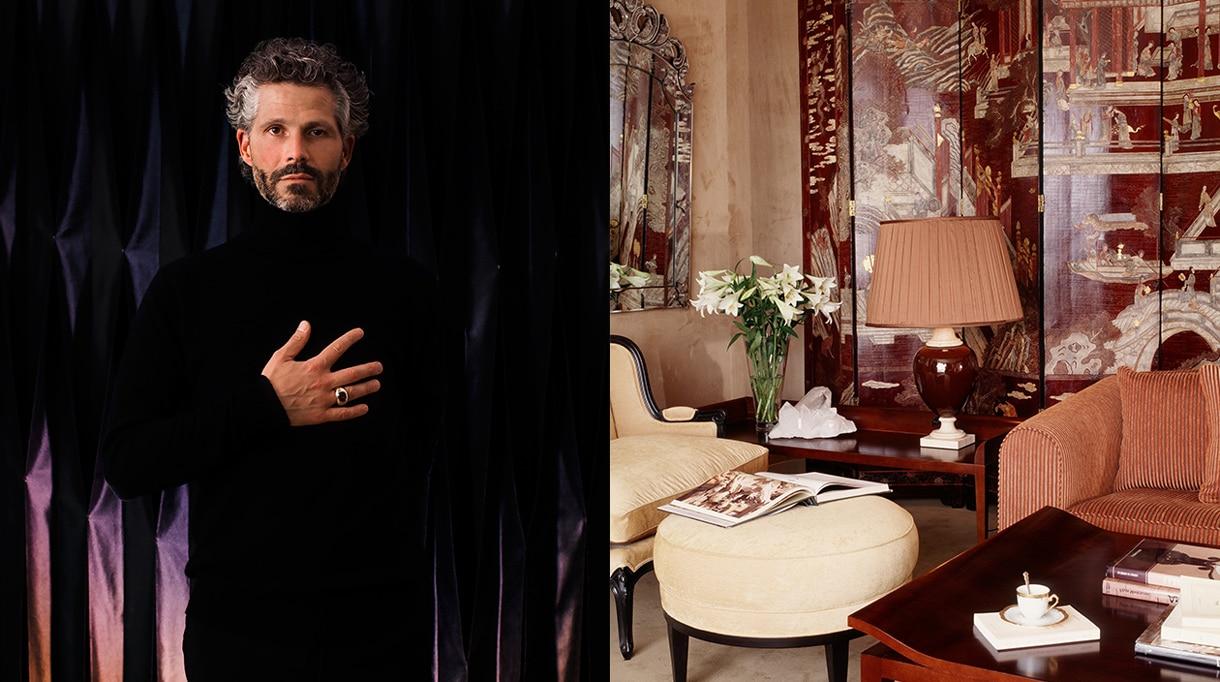 Nicolas Aubagnac - French interior designer - French designer - living room - parisian apartment - Coromandel lacquered screen - Signatures Singulières Magazine - The digital magazine of French talent