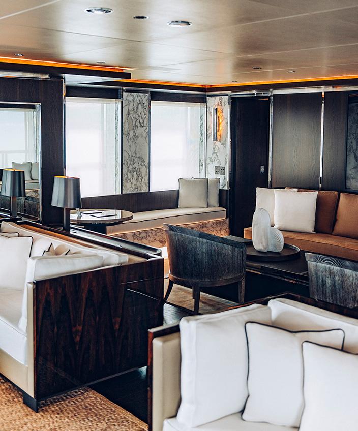 Gilles et Boissier - French interior designer - Luxury Yacht - 55 meters - The Nuvolari-Lenard studio - yacht Atlante -boat deck - signatures Singulières Magazine - The digital magazine of French talent