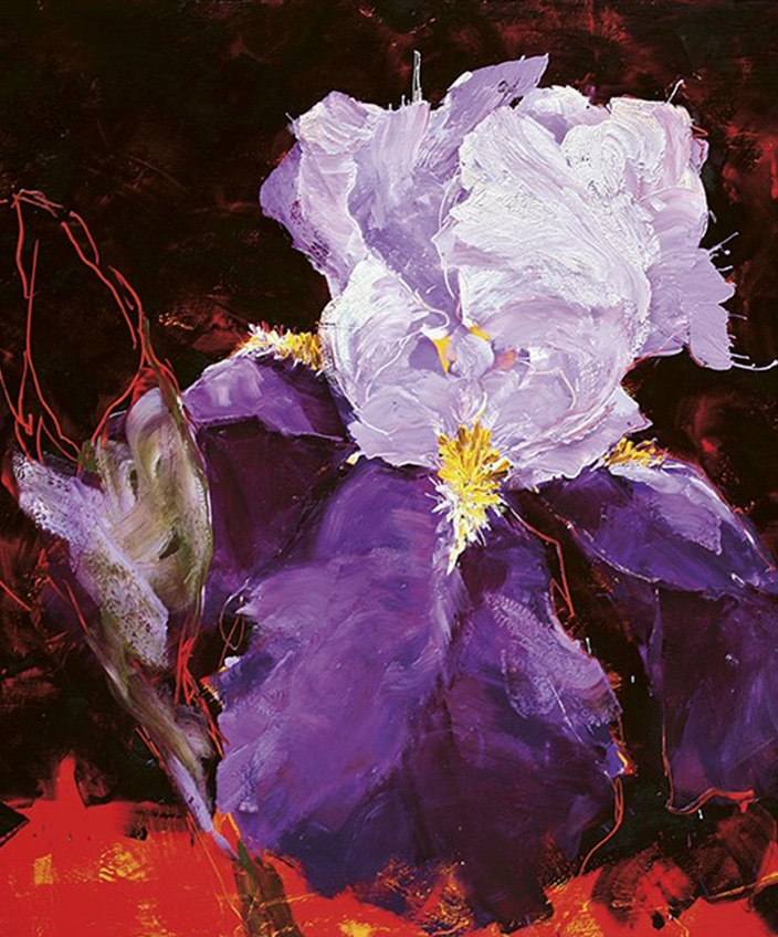 Charles Belle - French painter artist - Editions Souces - Art book - purple flower - Signatures Singulières - The digital magazine of French talent