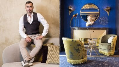 Oscar Lucien Ono - French interior designer - parisien hotel in pigalle - hotel nabis - blue wall - fabrics Rubelli - mirror Arte - trimmings Houlès - Signatures Singulières Magazine - The digital magazine of French talent