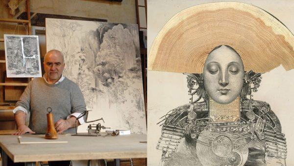 Bruno Mallart - French artist - painter artist -illustrator artist - digital artist - peacock - Signatures Singulières Magazine - The digital magazine of French talent