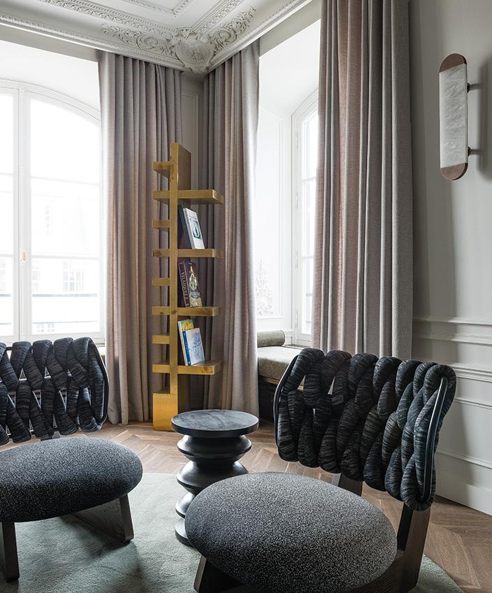Félix Millory - French interior designer - Exceptional apartment in Paris - Place vendôme in Paris - Lamp and bronze - Lighting Entrelacs - French designer