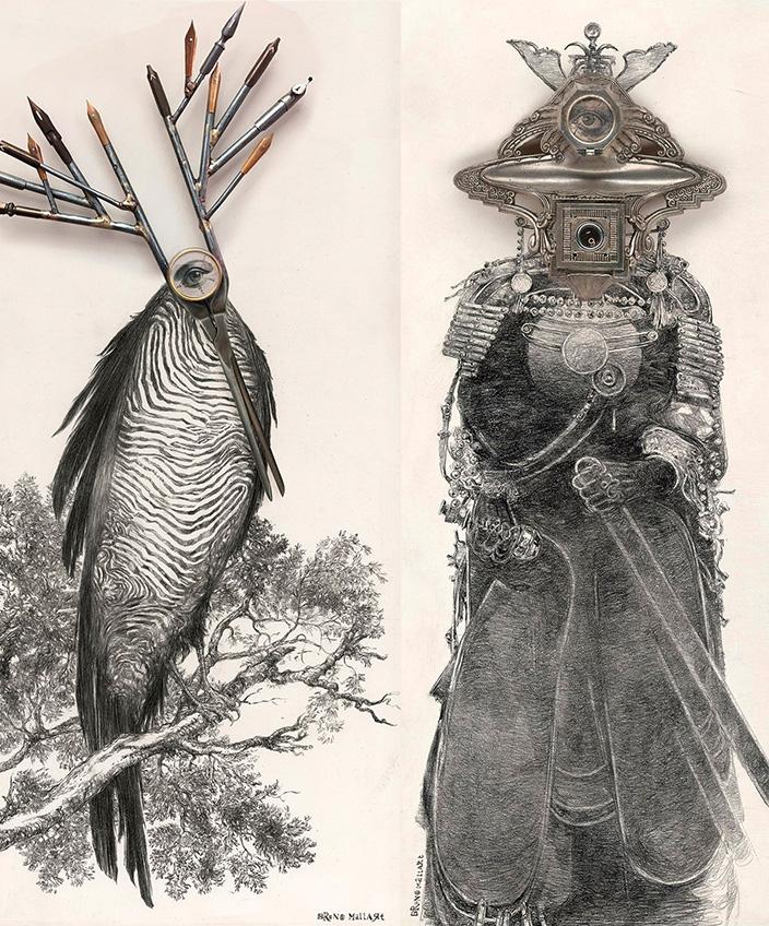 Bruno Mallart - French artist - painter artist -illustrator artist - digital artist - cyclops - Signatures Singulières Magazine - The digital magazine of French talent