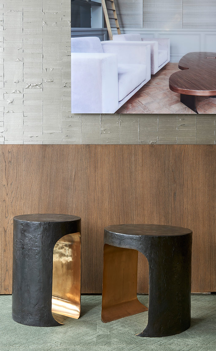Thierry Lemaire - French interior designer - Brass side table - Signatures Singulières - Magazine of French know-how - French know-how