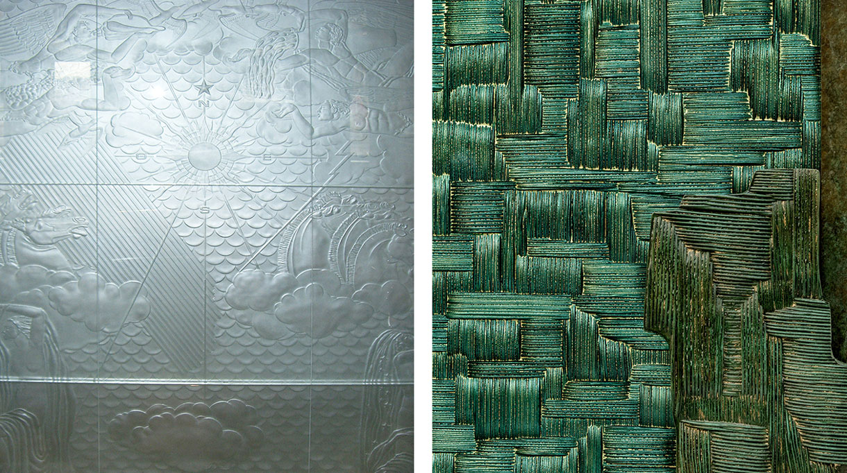 Bernard Pictet - French master glassmaker - French craftsman - French know-how - Decorative glass panel - Glass door - Architect François Catroux - Metallized glass - engraved glass panel - EPV company - Mirror effect - Signatures Singulières Magazine - The digital magazine of French talent