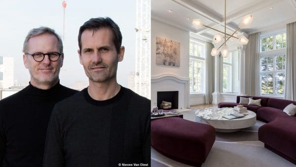 Ozone lighting - French luminaire manufacturer - Etienne Gounot - Eric Jahnke - french designers - Regis Botta - French designer - LED lighting - French contempory lighting - Luxury parisian apartment -burgundy sofa - white coffee table - French know-how - Signatures Singulières Magazine - The digital magazine of French talent