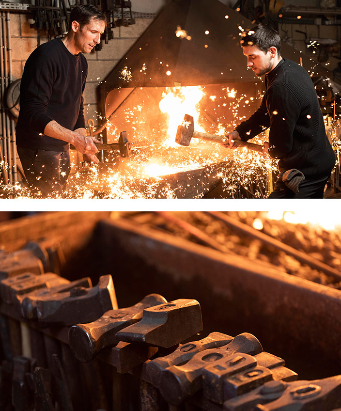 Steaven Richard - Ironwork of art - French craftsman - Creative craftsman - Artistic metalwork - Patinas and textures - Blacksmiths and metalworkers - Steel decorations - Decorating brass - Brass material - Rémi Martin Cognac XO - Brass - EPV company - Signatures Singulières Magazine - The digital magazine of French talent
