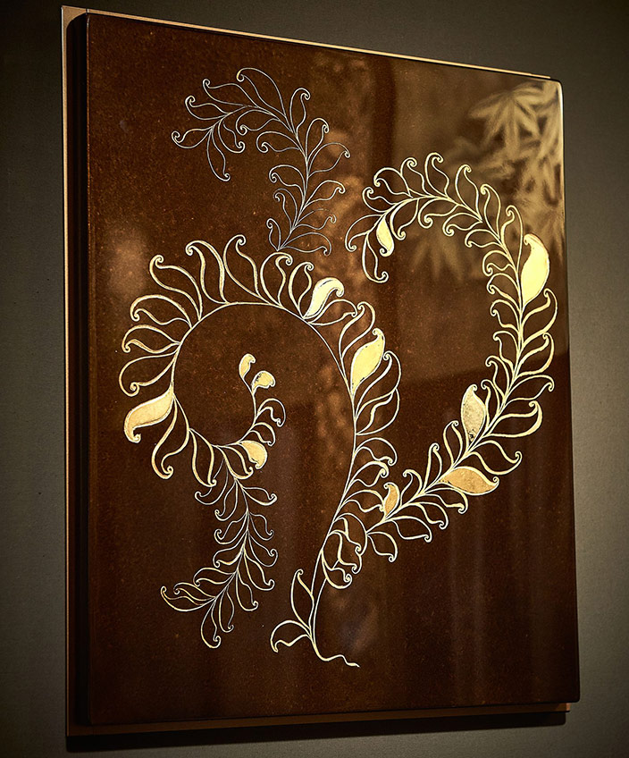 alm deco workshop - mireille herbst - lacquer wall panel - armand rateau - french interior designer -lacquer engraved with gold leaf - French know-how - Entreprise du Patrimoine Vivant label - Signatures Singulières Magazine - The digital