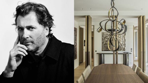 Katia Le Vaillant - Agence LK Le Vaillant Katia - French interior designer - pierre alexis Gilbert - Contemporary dining room - bronze chandelier - wooden dining table - Console in bronze with black patina - Signatures Singulières magazine - The digital magazine of French talent