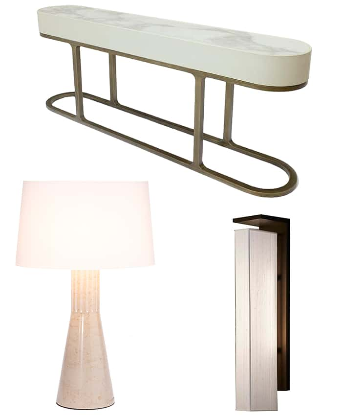 hugues chevalier - fréderic taïeb - french designer reda amalou - art deco furniture - art deco showroom in paris - white leather console - white marble lamp - bronze finish wall sconce - Art Deco lamp inspired by the 30's - signatures Singulières - The digital magazine of French talent