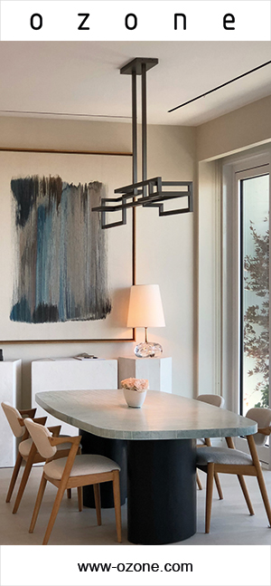 Ozone lighting - French luminaire manufacturer - french designers - LED lighting - Contempory dining room - French contempory lighting - Luxury parisian apartment - French know-how - Signatures Singulières Magazine - The digital magazine of French talent