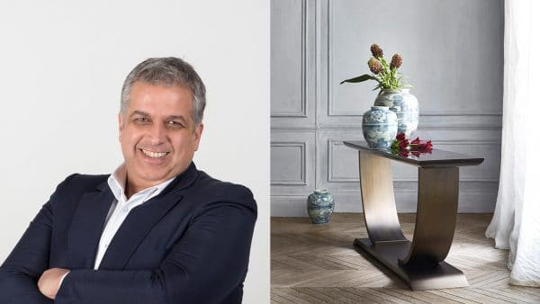 hugues chevalier - fréderic taïeb - telemaco - italian designer - hugues chevalier and telemaco designer -art deco furniture - art deco showroom in paris - bronze finish console - signatures Singulières - The digital magazine of French talent