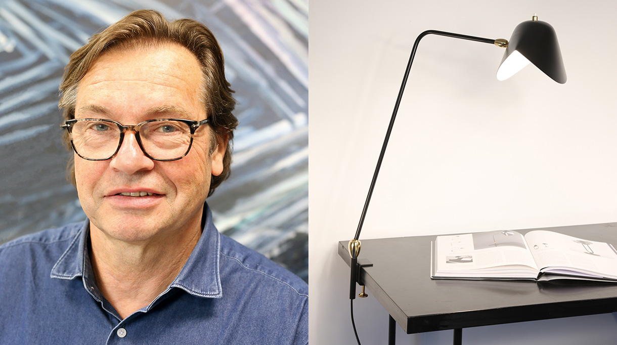 editions serge Mouille - black steel desk lamp - french know how - lamp Agrafée - didier delpiroux, CEO of the serge Mouille editions - Signatures Singulières Magazine - The digital magazine of French talent