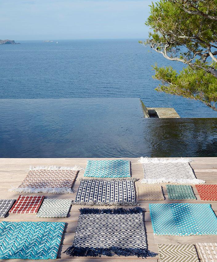 pierre frey - outdoor carpets - infinity pool - signatures singulieres magazine