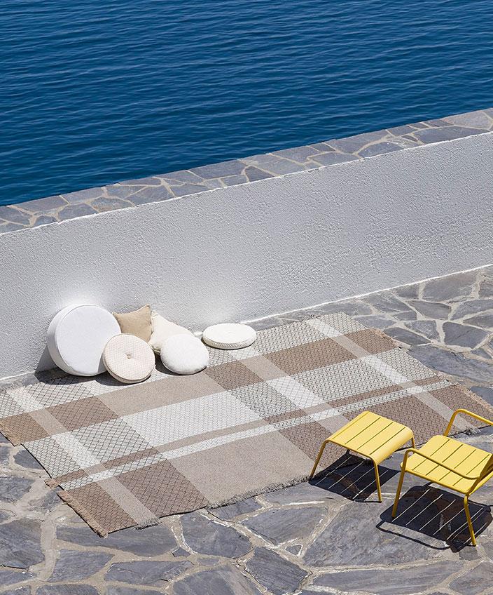 pierre frey - outdoor carpets - outdoor cushions - Fermob garden furniture - signatures singulieres magazine