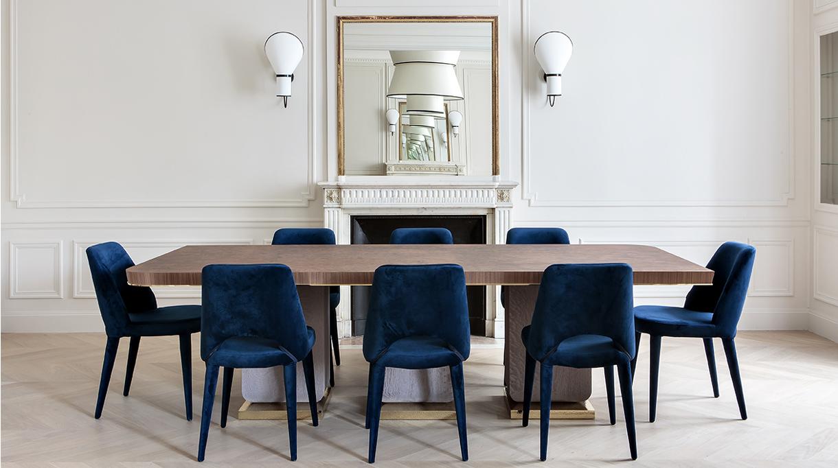 rinck - interior designer - blue dining room chair - signatures singulieres magazine
