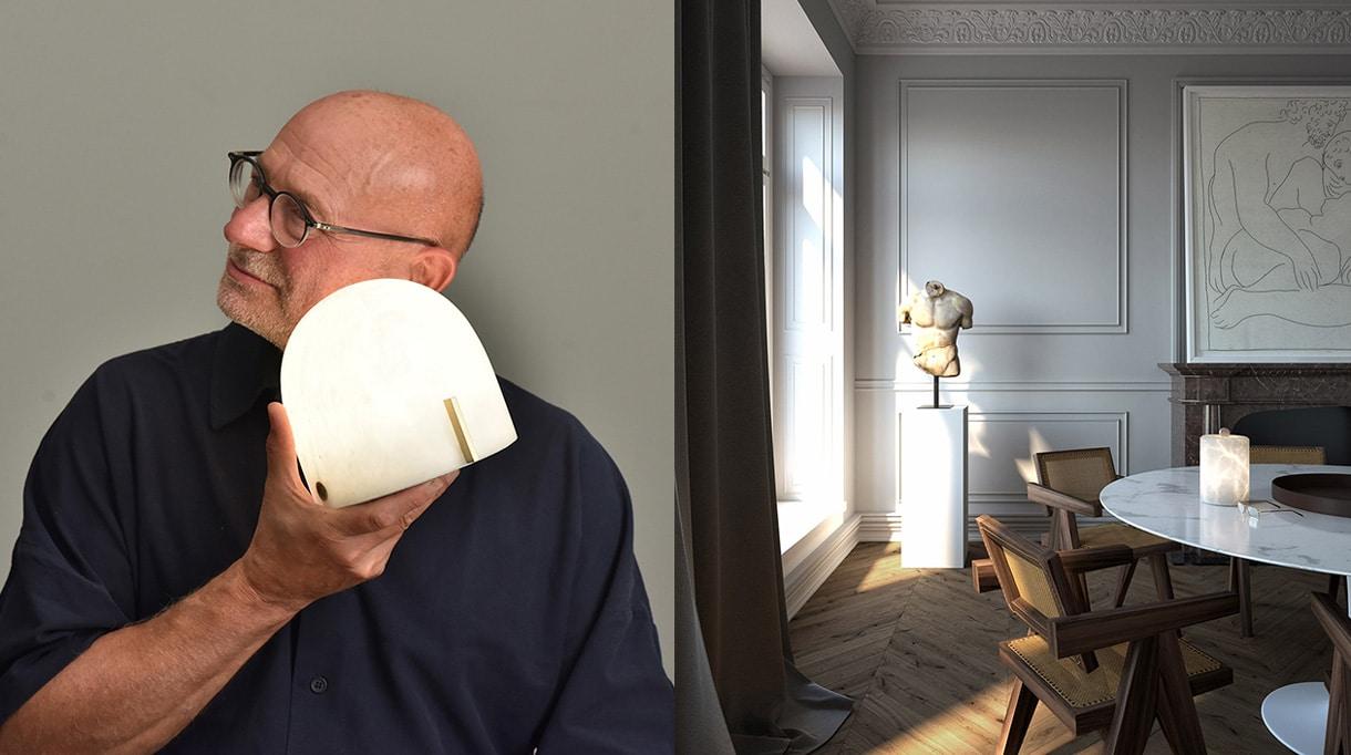atelier alain ellouz - autonomous alabaster lamp - signatures singulieres magazine