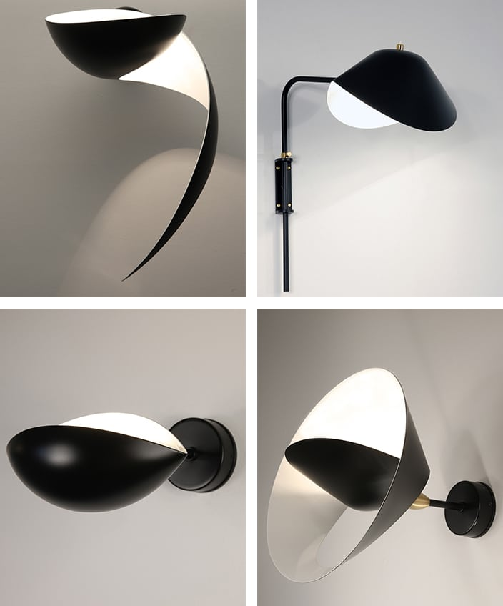 editions serge mouille - Small steel sconce - signatures singulieres magazine