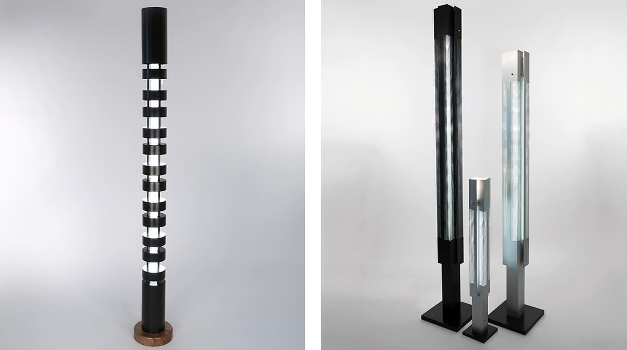 editions serge mouille - aluminium light columns - signatures singulieres magazine