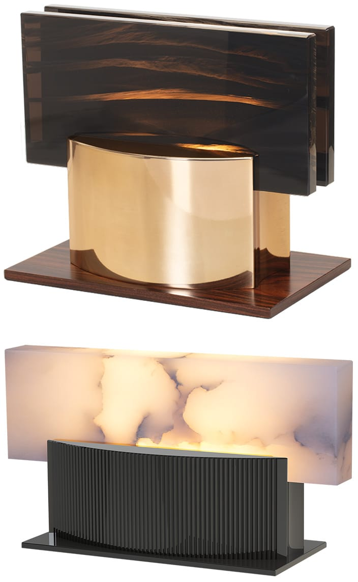 ateliers torsades - table lamp in solid bronze - alabaster - signatures singulieres magazine