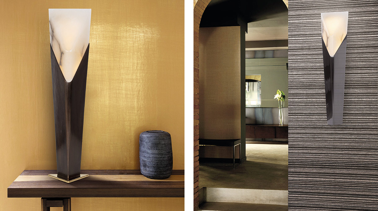 bronze table lamp - bronze wall sconce - ateliers torsades - french lighting designer - signatures singulieres magazine