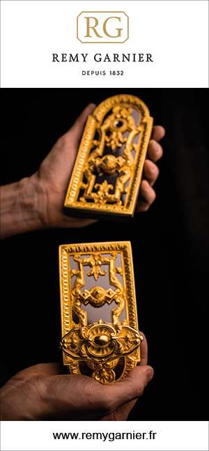 remy garnier - Gilded bronze lock - signatures singulieres magazine